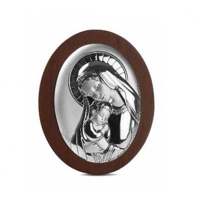 Icoana pe foita de argint cu Maica Domnului