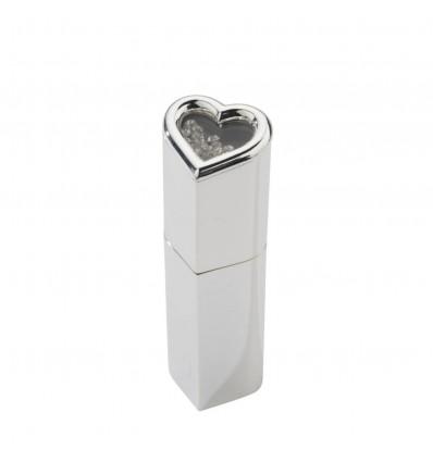 Suport pentru parfum -atomizor argintat cu cristale