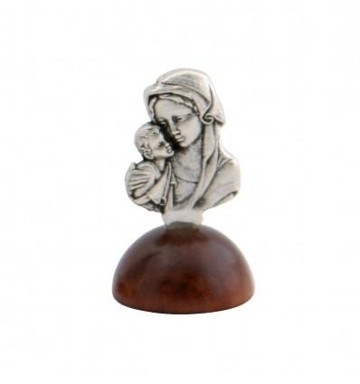 Marturie Statueta Argintata Fecioara Maria cu Pruncul