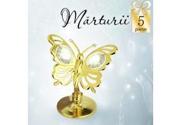 Fluturas cu cristale Swarovski violet - oferta de 5 marturii nunta