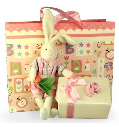 """""""My Little Bunny"""" iepuras din plus si ambalaj de lux pentru cadoul tau"""