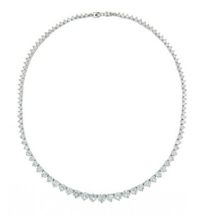 Colier pentru mirese decorat integral cristale Swarovski