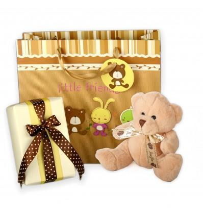 Little Friends - Bruno ursulet de plus si ambalaj de lux pentru cadoul tau