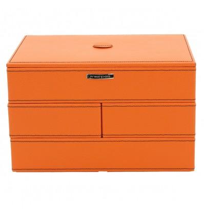 """Caseta de bijuterii din piele ecologica orange """"Elegance"""""""