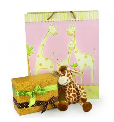 Little Friends - Gary girafa de plus si ambalaj de lux pentru cadoul tau