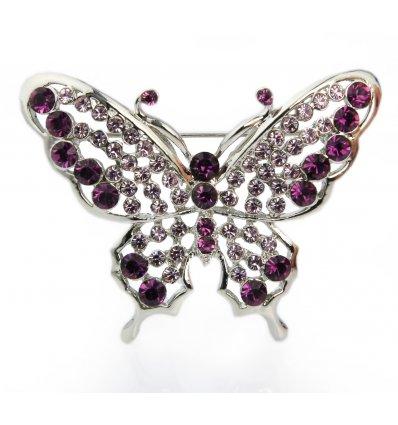 Brosa fluturas cu cristale