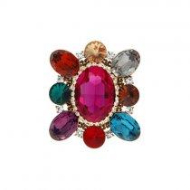 Brosa moderna cu cristale Swarovski multicolore