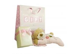Ursuletul somnoros si ambalaj de lux pentru cadoul tau - Roz