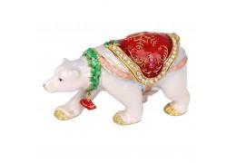 Eskimo ursul polar - casetuta cu cristale