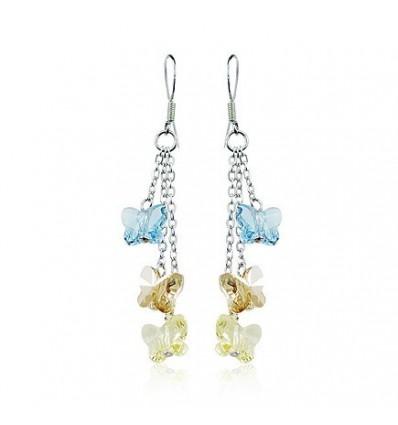 """""""Magic Butterflies"""" - Cercei din argint cu cristale austriece"""