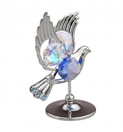 Porumbel cu cristale Swarovski