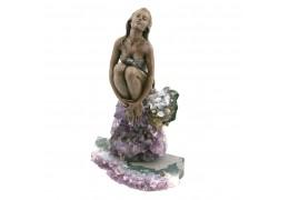 Feeling - Statueta din bronz pe suport din ametist - Vidal