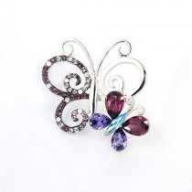 Love Butterfly - Brosa cu cristale austriece