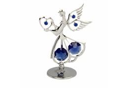 Ingeras cu cristale Swarovski albastru