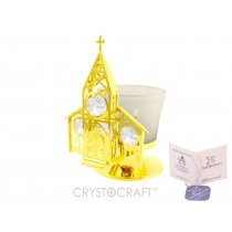 Candela - Biserica placata cu aur 24k si cristale Swarovski