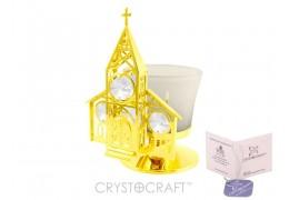 Candela - Biserica placata cu aur 24k si decorata cu cristale Swarovski