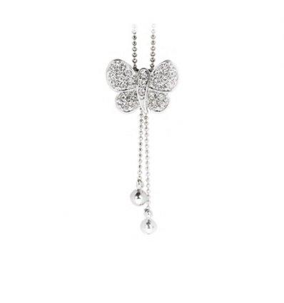 Colier ajustabil fluturas cu cristale Swarovski