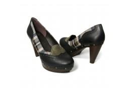 Pantofi din piele neagra de caprioara Dr Scholl