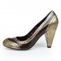 Pantofi din piele naturala maro Fornarina
