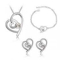 Platinum Romance - Set de bijuterii din trei piese
