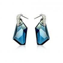 Royal Blue - cercei cu cristale