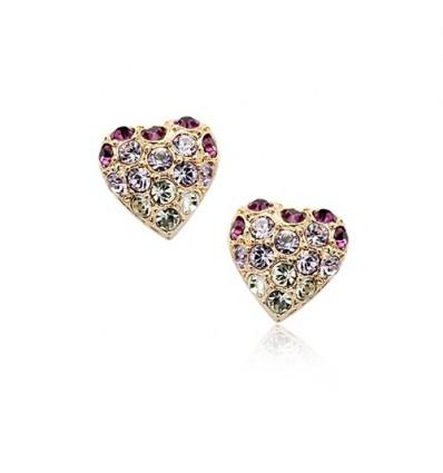 Purple Love - cercei cu cristale