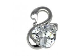 Little Swan - brosa pin cu cristale austriece