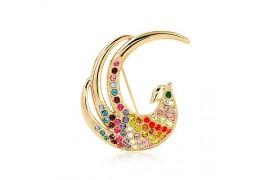 Colors of Spring - Brosa paun cu cristale