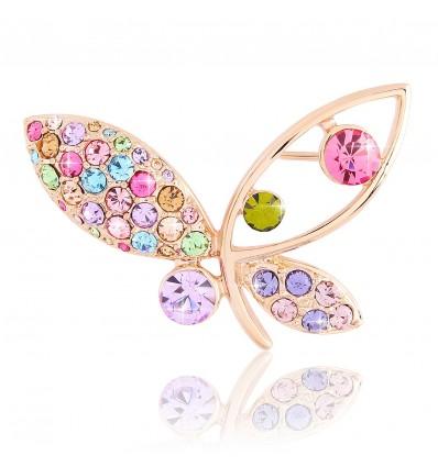 Lovely colors - brosa cu cristale