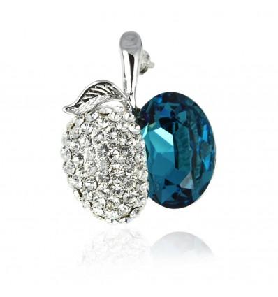 Blue Temptation - brosa cu cristale