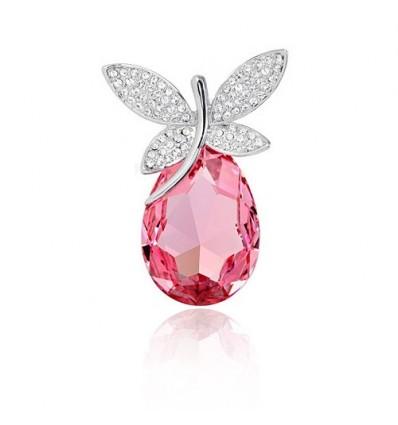 Lovely Pink - brosa cu cristale