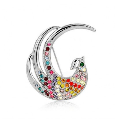 Silver Spring - Brosa paun cu cristale