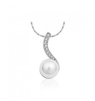 Silver Pearl - colier cu perla si cristale