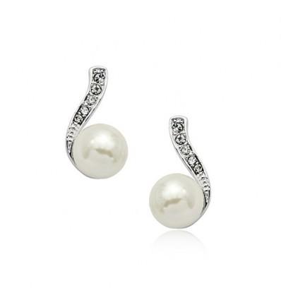 Silver Pearl - cercei cu perla