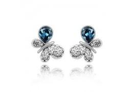 Blue Butterflies - Cercei decorati cu cristale Swarovski