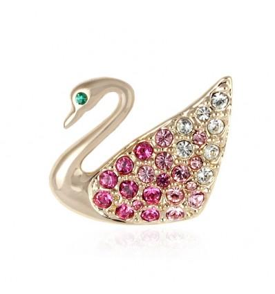 Spring Swan - brosa lebada cu cristale