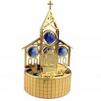 Bisericuta cu cristale Swarovski pe caseta muzicala