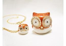 Bufnite cu cristale - casetuta de bijuterii cu colier