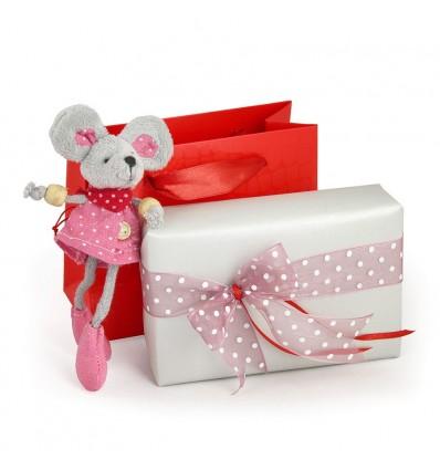 Minnie - soricel de plus si ambalaj cu punguta pentru cadou
