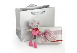Minnie - soricel de plus si ambalaj de lux cu punguta pentru cadou