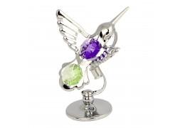 Pasare colibri decorata cu cristale Swarovski