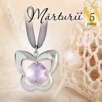 Pandant Fluturas cu cristal Swarovski - oferta de 5 marturii de botez
