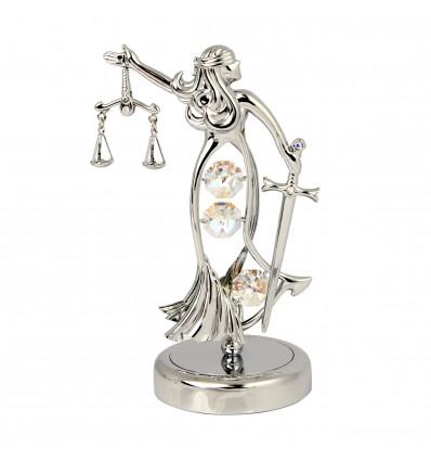 Figurina Zeita Dreptatii cu cristale Swarovski