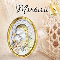 Iconita argintata - oferta de 5 marturii de nunta