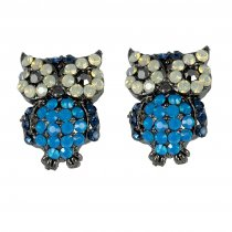 Bufnita - Cercei cu cristale albastre Swarovski - PARURE Milano