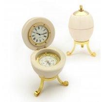 Ou Faberge  - caseta cu ceas si busola