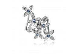 Inel din argint decorat cu cristale Swarovski