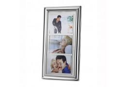 Family - Rama foto argintata pentru 3 poze 10 x 15 cm