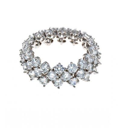 Inel flexibil cu cristale Swarovski