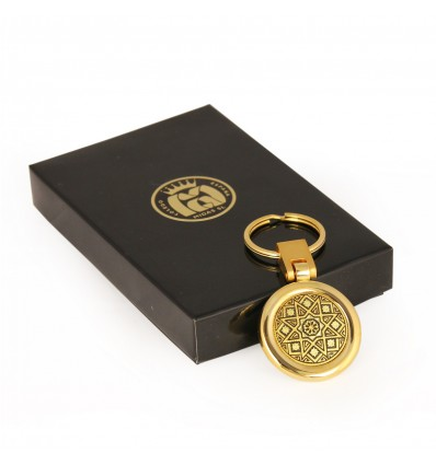 Breloc Stea incrustat cu aur 24K si aur 18K